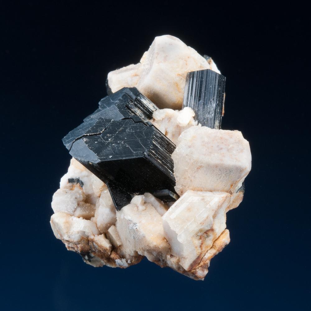 Arfvedsonite on Microcline, Mount Malosa, Zomba District, Malawi