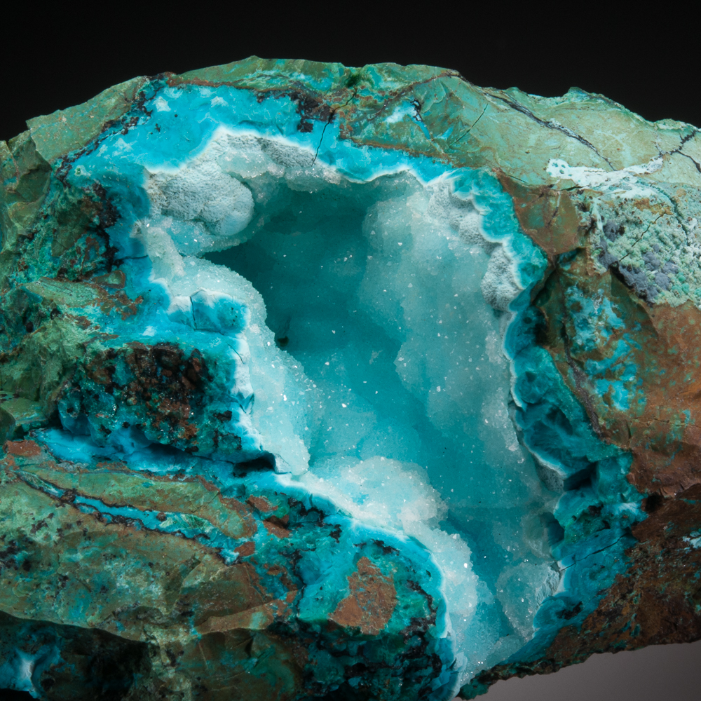 Chrysocolla, Quartz, Planet Mine, Planet, Buckskin Mtns., La Paz Co., Arizona, USA