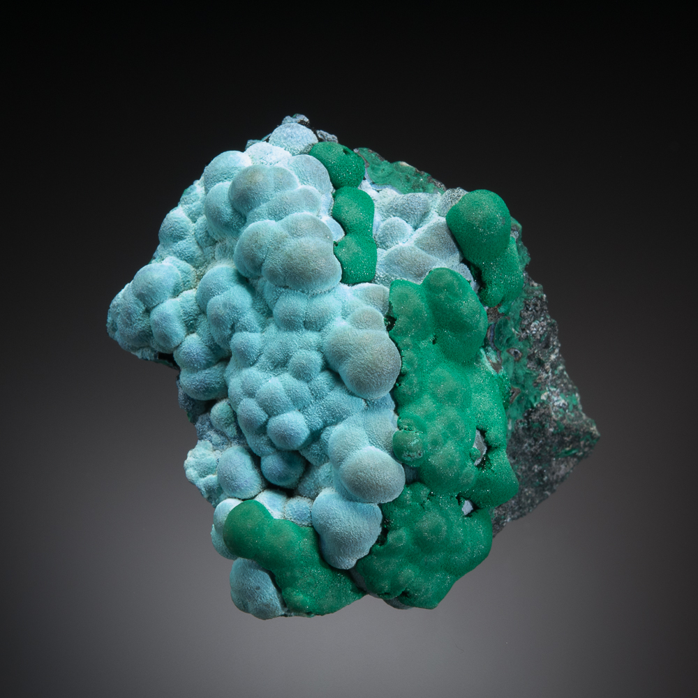 Chrysocolla and malachite, Morenci Mine, Greenlee Co., Arizona