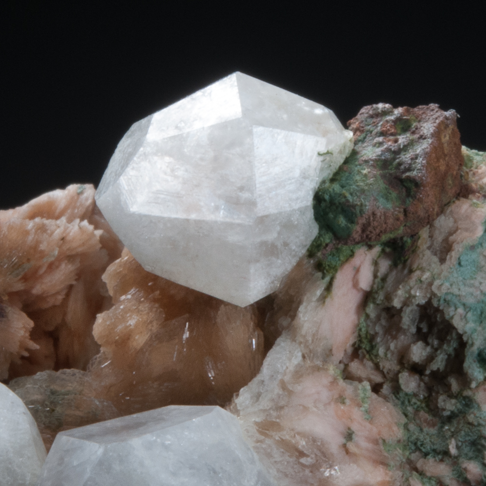 Analcime with Stilbite, Amethyst Cove, Kings Co., Nova Scotia