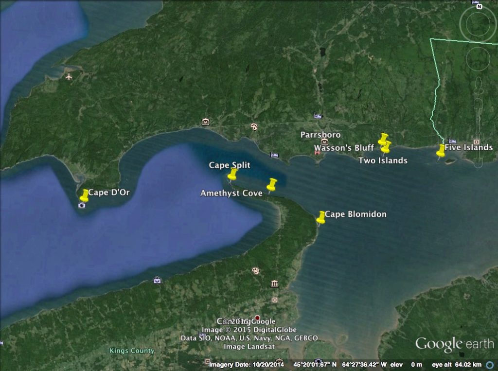 Bay of Fundy Map 2