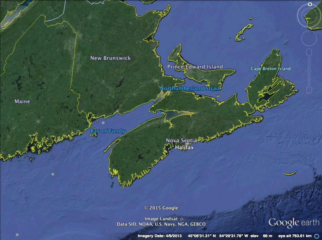 Bay of Fundy Map 1
