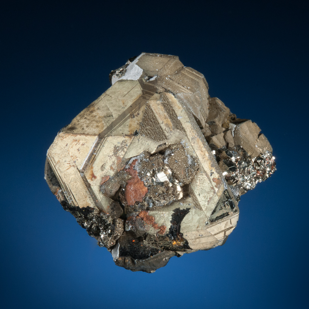 Chalcopyrite on Sphalerite, Palomo Mine, Castrovirreyna Province, Huancavelica Department, Peru