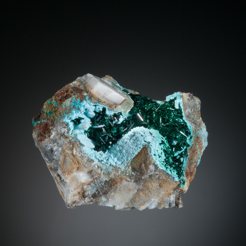 Atacamite, Chrysocolla, Lily Mine, Pisco Umay, Ica Dept., Peru