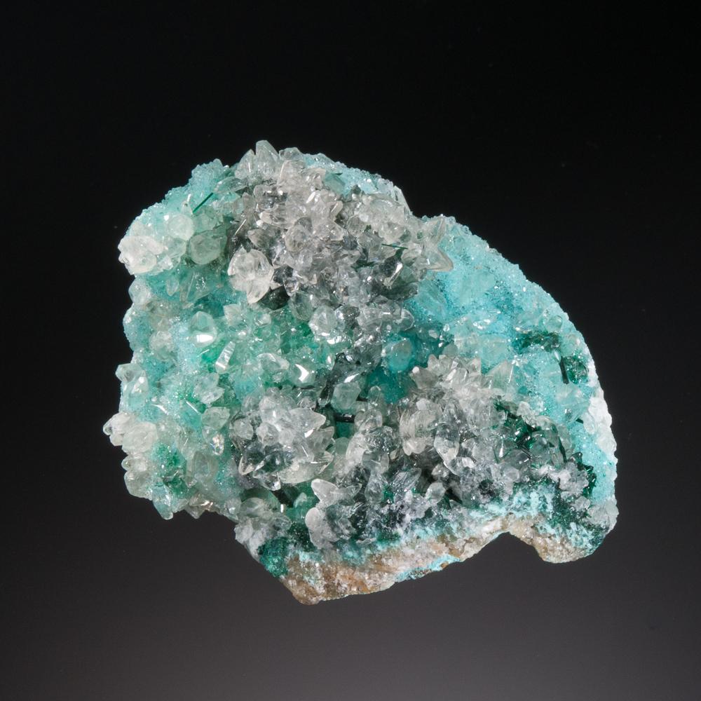 Calcite, Chrysocolla, Atacamite, Quartz, Lily Mine, Pisco Umay, Ica Dept., Peru
