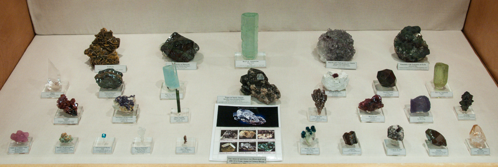 John Betts Mineral Collection Display Case, Rochester Symposium 2016