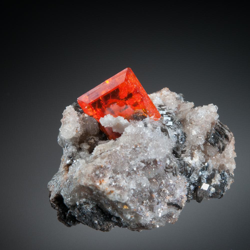 Wulfenite, Red Cloud Mine, Silver District, Trigo Mts., La Paz Co., Arizona