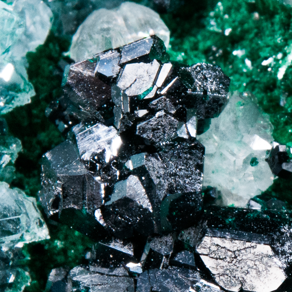Clinoatacamite, Malachite, Lily Mine, Pisco Umay, Ica Dept., Peru