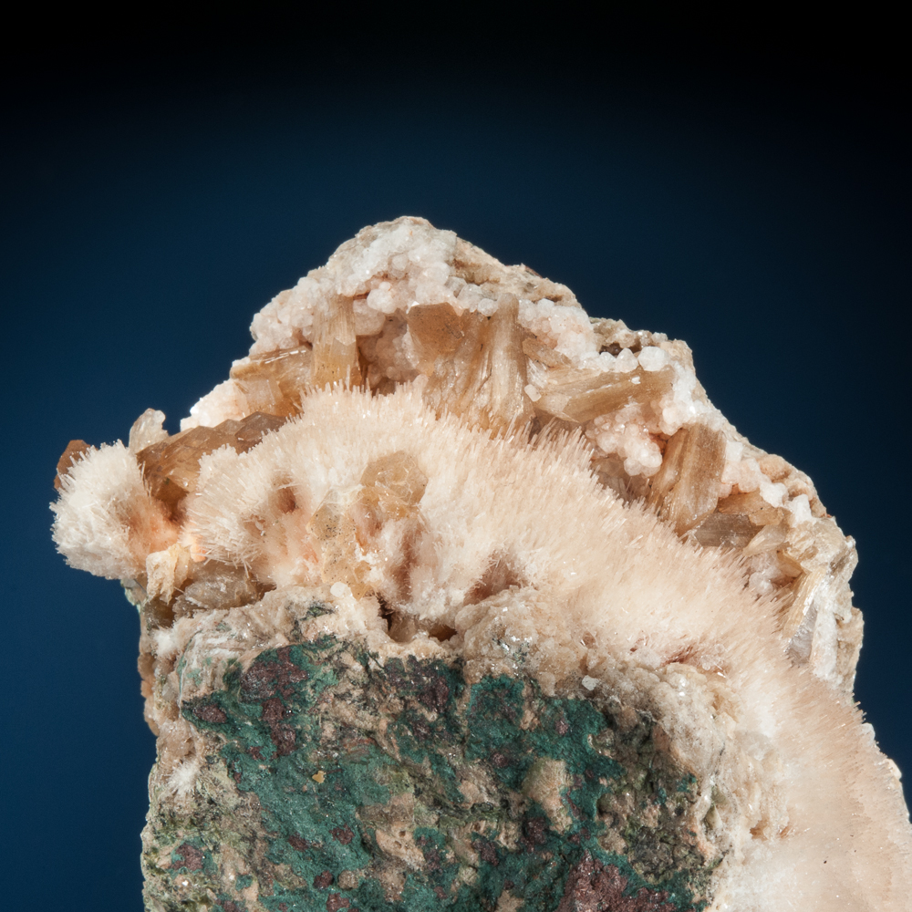 Natrolite with Stilbite, Cape Split, Blomidon Peninsula, Kings Co., Nova Scotia, Canada