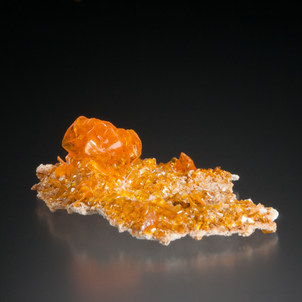 Wulfenite, Les Dalles, Mibladen Mining District, Midelt Province, Morocco