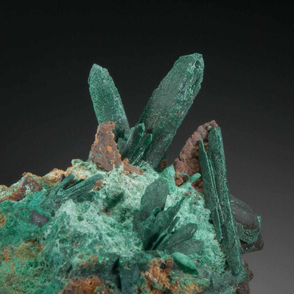 Malachite pseudomorph after azurite, Sacramento Pit, Bisbee, Warren District, Cochise Co., Arizona, USA