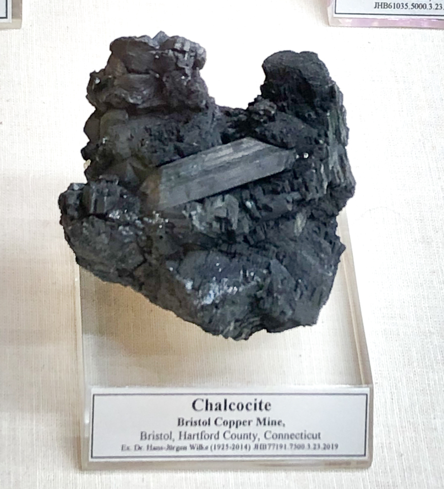 Chalcocite, Bristol Copper Mine, Bristol, Connecticut