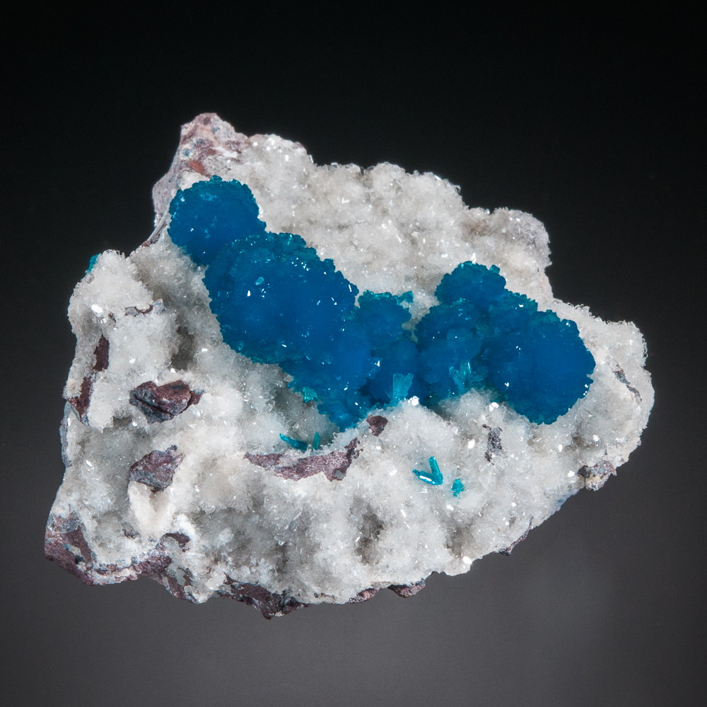 Cavansite on stilbite, Wagholi, Pune District, Maharashtra, India